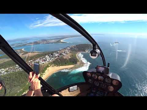 Caves Beach and Catherine Hill Bay by helicopter