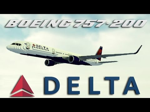 Giant' 7:1 Delta Airlines Boeing 757-200 [+Download] Minecraft Project