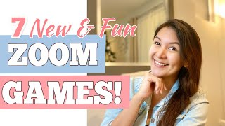 7 NEW EASY ZOOM GAMES TO PLAY | Fun Virtual Game Ideas For All Ages | SIMPLE AND FUN Virtual Games