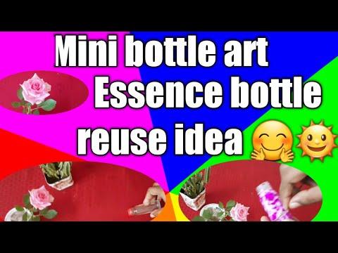 Miniature bottle art/Miniature bottle craft /Cute bottle art