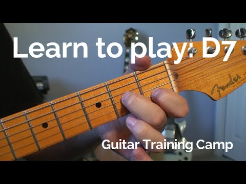 Beginner Guitar Lessons: How to play a D7 chord