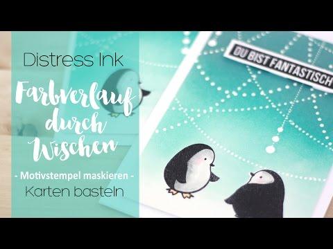 Farbverlauf über maskierte Motivstempel mit Distress Ink | danipeuss.de