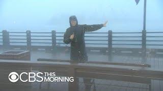 Hurricane Florence: Rain falling