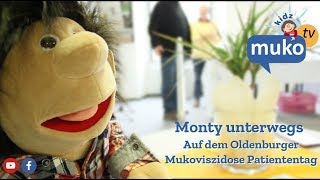 Monty auf dem Patiententag in Oldenburg Mukotv Kidz