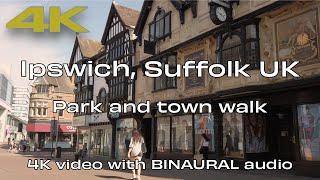 🇬🇧 Ipswich Suffolk UK⎮Park and Town   Barefoot Walk ☀️👣