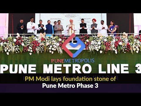 PM Modi lays foundation stone of Pune Metro Phase 3