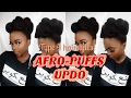 Watch Tolani's Tutorial for this 3 Minute Afro Puff Updo | Perfect ALL Hair Types