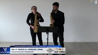 DUO M. CHAMIZO & A. RODRIGUEZ play Konzertstuck by P. Hindemith #adolphesax