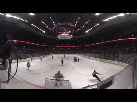360º NHL Highlight: Edler scores a flukey goal from centre ice to get Canucks on the board