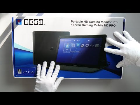 PS4 PORTABLE PRO MONITOR! Unboxing Hori Travel HD Gaming Screen (God of War Gameplay)