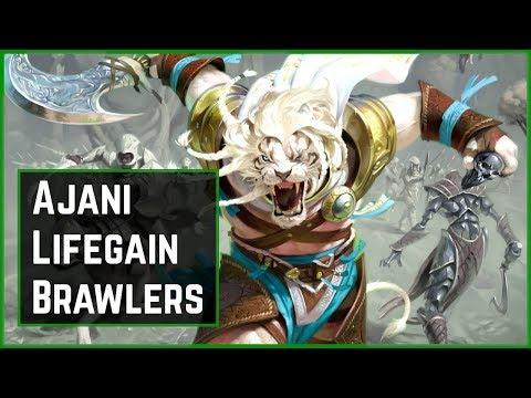 MY FAVORITE BRAWL COMMANDER?? Ajani, the Greathearted Lifegain Deck | Brawl | MTG Arena