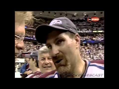 Joe Sakic Hands Ray Bourque The Stanley Cup 2001 ESPN