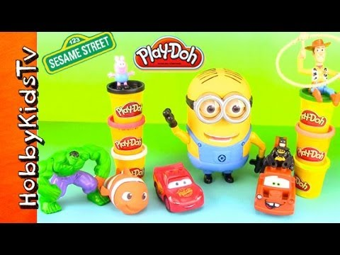 Minion meets PLAY-DOH + Mater ABC Hulk SMASH! HobbyKidsTV  sc 1 st  TvMack : lighting mcqueen play doh - www.canuckmediamonitor.org