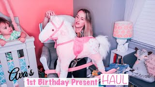 FIRST BIRTHDAY PRESENT HAUL | ONE YEAR GIFT IDEAS | PIECES OF JAYDE