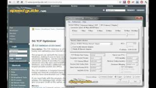 Speedguide.net's TCP Optimizer