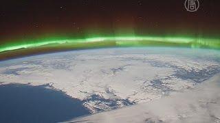 Завораживающее северное сияние сняли с МКС (новости)
