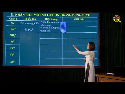 Thứ 7, ngày 11/4/2020, từ 9h00: Môn Hóa, bài 4