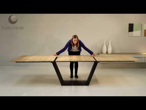 Esstisch Holz Metall ausziehbar - Kampen 4