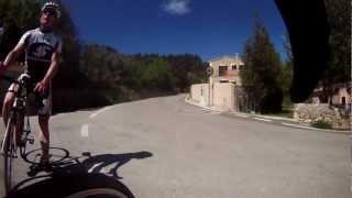 preview picture of video 'Rennrad Abfahrt von Esporles nach Puigpunyent 2012'