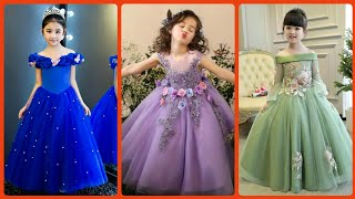 Top Stylish Party Wear Ball Gown Dress Designs Ideas For Kids / Princes Style Birthday Dresses Ideas