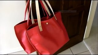 How I Made 2 Leather Tote Bags: A Step-by-step Tutorial