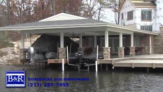 Boatdocks & Shorewalls built by B&R Construction, Inc