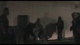 Cholo vs Punk Rocker fight at underground punk show L.A.
