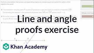 Line And Angle Proofs Exercise