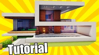 How To Build A Simple Modern House In Minecraft Minecraft House Tutorial Minecraftvideos Tv