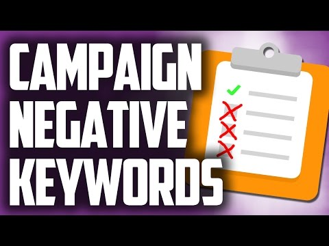Campaign level negative keywords in Google Adwords PPC