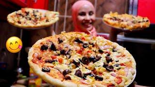بيتزا ايطالي الوصفة الاصلية في 10 دقائق | #ام_سليم