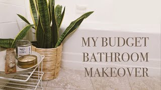 MY SMALL, UGLY BATHROOM MAKEOVER ON A BUDGET! | JAZMYNE DRAKEFORD