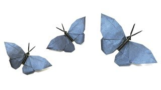 How to make a paper butterfly 3D origami tutorial (instructions ... | 180x320