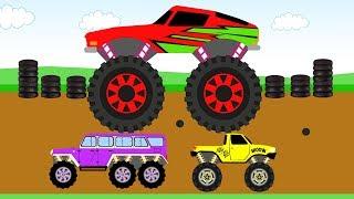 Новый эпизод мультфильма про Монстртраки. В этой серии мы увидим, как три монстртрака участвуют в турнире. Автомобили с большими колесами по очереди ломают старые машины. Но это еще не все, впереди им предстоит пройти этап с воздушными