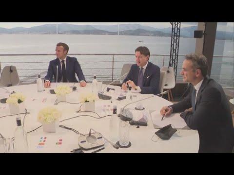 Ευρωμεσογειακή Διάσκεψη MED7- πλάνα από το στρογγυλό τραπέζι