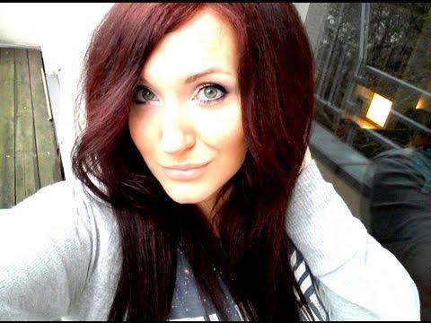 Dunkle Haare ROT färben - Ergebnis OHNE aufhellen (Garnier Nutrisse)