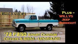 1977 Ford F100 Custom Coyote 5 0 Crown Vic Swap - Blue Thunder