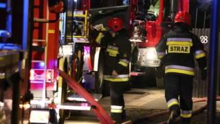 Pożar poddasza w Krośnie