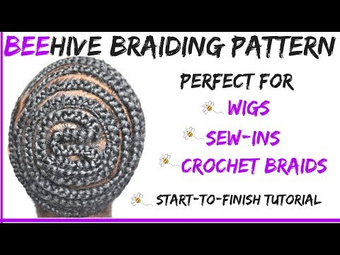 How To Beehive Braid Pattern With Side Part No Leave Out Crochet