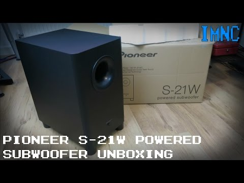 Pioneer S-21W Powered Subwoofer  Unboxing & First Look | IMNC