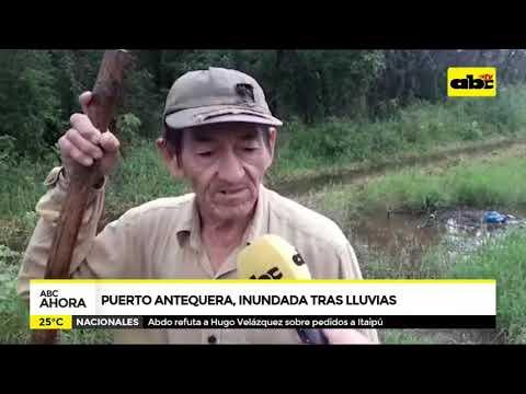 Puerto Antequera inundado tras lluvias