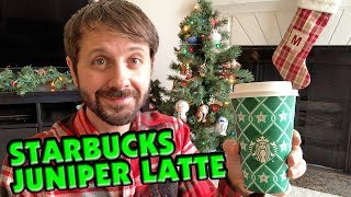 Starbucks Juniper Latte! Does It Taste Like A Tree? - Max's Munchies | Vlogmas Day 1