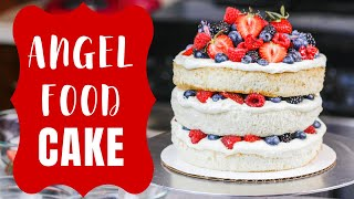 Layered Angel Food Cake From Scratch | CHELSWEETS