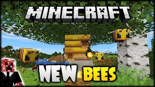 NEW! BEES, HIVES & HONEY ADDED TO MINECRAFT 1.15! (Minecraft)