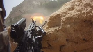 FIREFIGHT ON HELMET CAM IN AFGHANISTAN - PART 1   FUNKER530