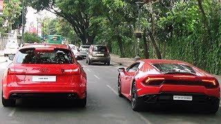 Audi RS 6 Vs Lamborghini Huracan?! Bangalore