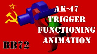 3D Animation  AK47 Trigger Functioning