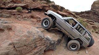 Jeeps wheeling Kane Creek Moab & Hamburger Hill Moab. Rock Crawling Moab