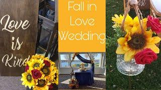 RUSTIC ROMANTIC FALL WEDDING/SUNFLOWER WEDDING