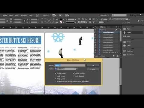 Using Layers in Adobe InDesign tutorial